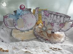 Teapots & Cups - would make great placecards