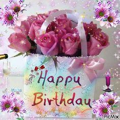 E16 03 38 Carte Anniversaire Femme Bouquet De Fleurs Brighten Ur