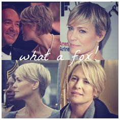 Robin Wright will always be one of the most beautiful women in my book. And I'll be damned if she doesn't look amazing with short hair too. Short Bob Haircuts, Cute Hairstyles For Short Hair, Girl Short Hair, Short Hair Cuts, Girl Hairstyles, Short Hair Styles, Pixie Cuts, Robin Wright Haircut, Long Pixie