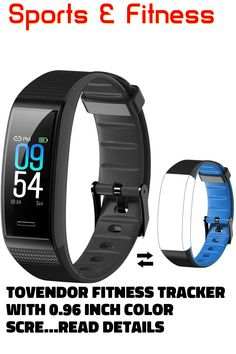 Tovendor Fitness Tracker with 0.96 Inch Color Screen, Auto Blood Pressure Heart Rate Monitor Smart Band for Women, Men and Kids, Step Calorie Counter Pedometer Wristband, IP68 Waterproof #fitnesstracker