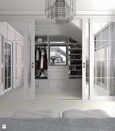 Biała garderoba na poddaszu - zdjęcie od gabriella-bober - Garderoba - Styl Glamour - gabriella-bober
