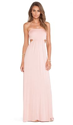 Love this pale pink Lovers + Friends maxi dress