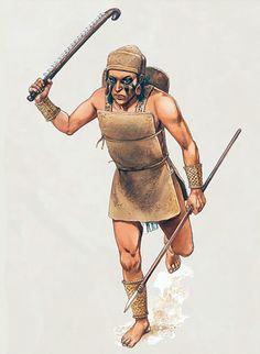 """Mississippian warrior"", Peter Dennis"
