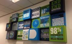 Brighten up your boardroom with some vibrant wall displays
