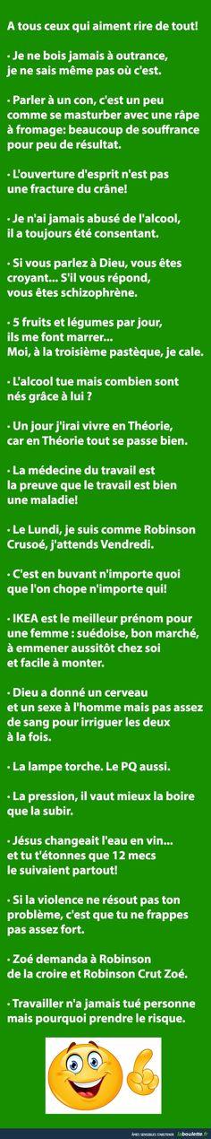A tous ceux qui aiment rire de tout! | LABOULETTE.fr - Les meilleures images du net!