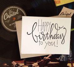 Birthday Card by GreySnailPress on Etsy, $3.50