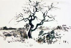 Landscape painting from artist & instructor Sungsook Hong Setton -