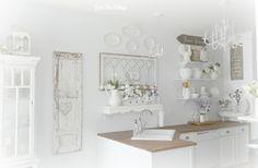 Junk Chic Cottage: Kitchen Open Shelves