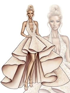 63 trendy fashion ilustration ilustraciones de moda Best Picture For fashion sketches step by step F Dress Design Sketches, Fashion Design Drawings, Fashion Sketches, Croquis Fashion, Fashion Drawing Dresses, Fashion Illustration Dresses, Fashion Illustrations, Drawing Fashion, Dress Fashion
