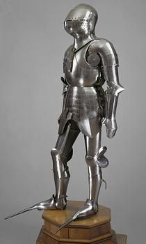 Field Armor of Frederick I, Elector son of Louis III of the Palatinate, c 1450; Bare iron, leather