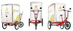 Triciclo eléctrico para transporte de personas y mercancías