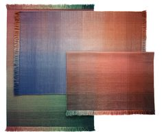 Shade Palette 1 Carpet by Begum Cana Ozgur for Nanimarquina at Maison & Objet 2018 Palette, Interior Rugs, Interior Design, Linear Pattern, Custom Cushions, Color Melting, Textiles, Modern Rugs, Elle Decor