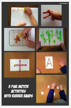» Therapy Activities of the Week:  5 Fine Motor Activities Using Rubber Bands