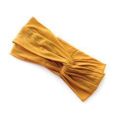 Turban Headband Mustard. Adorable head wraps and Peter Pan collars