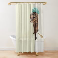 T Rex, Curtains, Shower, Design, Rain Shower Heads, Blinds, Showers, Draping