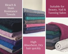 Get long-lasting Bleach safe towels for beauty, nail & Tanning Salon Shops from HY Supplies Inc !! #salon #hairsalontowels #hairtowels #bleachproofsalontowels #bleachsafe #tanningsalon #nail salontowels