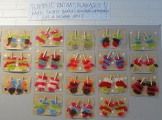 Huovutettuja vanulapasia. Crafts To Do, Arts And Crafts, Winter Art, Projects For Kids, Art Lessons, Art For Kids, December, Felt, School