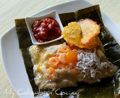 Tamales de Pescado (Guapi)- Fish Leaved Parcel. Colombia, recetas colombianas, cocina colombiana, guapi, pescado, tamales, colombianos, comida colombiana.