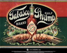 Vintage mcilhenny's Tabasco ad made in new Iberia Louisiana Tabasco Hot Sauce, Tabasco Pepper, Low Country Boil, Festival Posters, Old Ads, Background Vintage, Stuffed Hot Peppers, Art Journal Inspiration, Vintage Ads