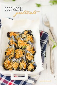 Cozze gratinate - Mussels gratin