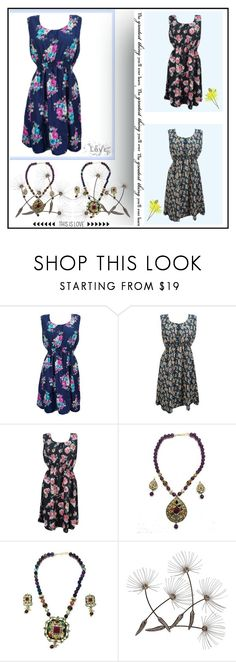 """""""Boho Chic Printed Sleeveless Dresses"""" by baydeals ❤ liked on Polyvore featuring Post-It, dress, printeddress, hippiechic, womensFashion and bohochicdress"""