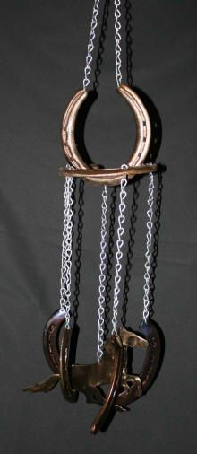 Recycle Reuse Renew Mother Earth Projects: Horseshoe Cowboy Wind Chime