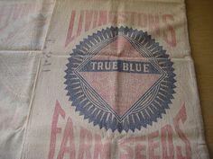 SOLD Vintage Seed Sack/Bag Set of 2 Livingston Farm by VintageRenude