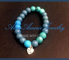 Sea of Blue Beaded Bracelet