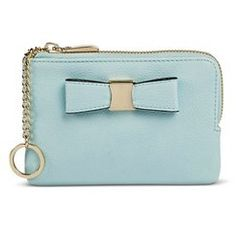 Women's Card Case Keychain with Bow Detail - Merona™: - Blue
