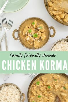 This chicken korma recipe is easy and quick to make, which means it is perfect for busy families #curry #familymeal #kidfriendly #chickenkorma
