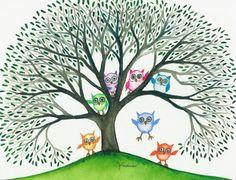 Rainbow Owls - Lori Alexander