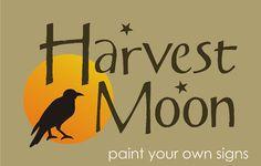 Country STENCIL Harvest Moon Primitive Crow Fall Halloween Farm Homestead Signs