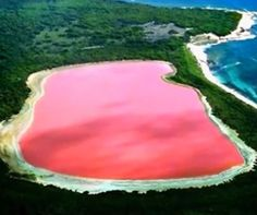 Mysterious pink lake in Australia http://www.aluxurytravelblog.com/2013/04/25/mysterious-pink-lake-in-australia/
