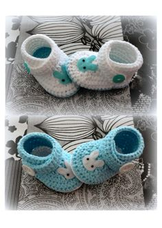 crochet baby shoes booties ༺✿ƬⱤღ https://www.pinterest.com/teretegui/✿༻