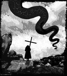 internal artwork by Kieran Walsh for Tales of the Nun & Dragon
