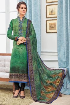 Looking for latest collection of Churidar Suit for women? Buy Churidar Suits & embellished churidar salwar kameez for wedding ceremony online. Shopping patiala churidar dresses at affordable price range by Andaaz Fashion Malaysia. Designer Suits Online, Designer Wear, Punjabi Fashion, Ethnic Fashion, Indian Dresses, Indian Outfits, Churidar Suits, Salwar Kameez, Desi Clothes