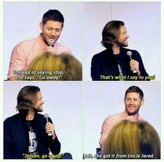 Jensen talking about JJ.