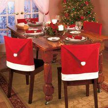 2016 Tampa Da Cadeira de Natal Não-tecido Enfeites de Para Casa Mesa de Jantar Cobre Navidad Natal Decorações De Natal para Casa(China (Mainland))