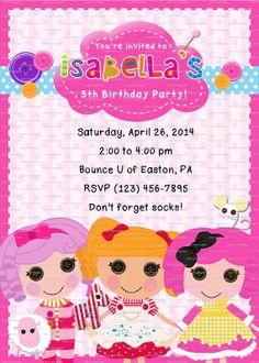 CUSTOM Lalaloopsy Birthday Invitation 5x7 DIGITAL FILE ~ You Print on Etsy, $9.21 AUD