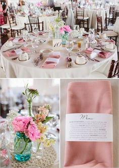 What a beautiful wedding!  I love the menu napkin holders!  Such an awesome and easy idea to reproduce.  Source: Wedding Chicks