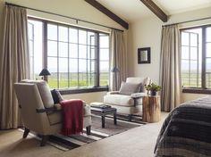 Diamond O Madison Ranch: master bedroom seating by Kylee Shintaffer