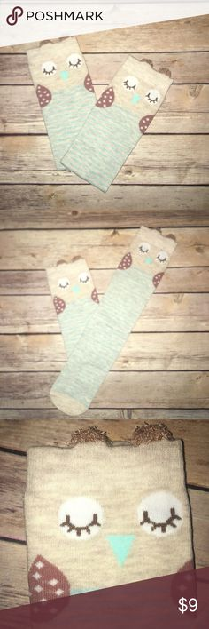🆕 Owl Knee Socks 🦉 Size: One Size Boutique Accessories Socks & Tights