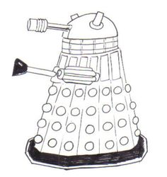 How to Draw a Dalek!  Complete Dalek drawing inked and all.