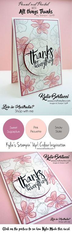 Kylie Bertucci - International Highlights winners blog hop. Penned and Painted - All things thanks stamp sets.