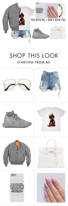 """i don't need you"" by blvck-fashion ❤ liked on Polyvore featuring adidas Originals, Big Baby, Hermès and Bellamie"