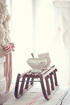 Dreamy Whites: Vintage European Sleds and Miss Mustard Seed is in Petaluma Today