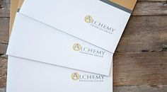 New work for Alchemy Financial Group: full color #branded folder to keep the Alchemy name on the customer's mind. #ByMonarch