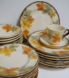 On Sale  Franciscan Dinnerware October Place Setting by cyndalees