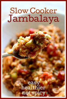 Instant Pot Chicken and Sausage Jambalaya–a fast, easy, healthier, non-spicy version of jambalaya. It has so much flavor, you're going to love it! Chicken And Sausage Jambalaya, Slow Cooker Jambalaya, Jambalaya Recipe, Instant Pot Pressure Cooker, Pressure Cooking, Pressure Cooker Recipes, Slow Cooking, Cajun Cooking, Slow Cooker Chicken