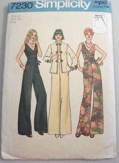 1970s Jumpsuit and Jacket sewing pattern by retroactivefuture, $15.00